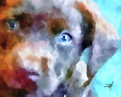Chocolate Labrador Retriever Painting - Chocolate Lab Puppy by Dwella Mahoney