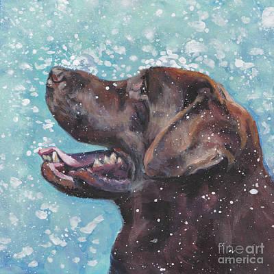 Chocolate Lab Painting - Chocolate Labrador Retriever by Lee Ann Shepard