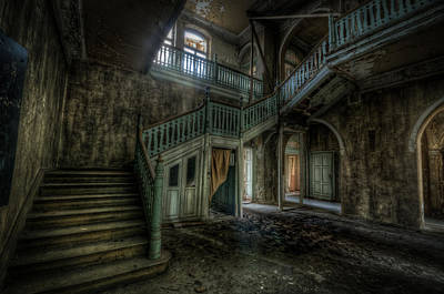 Haunted Mansion Digital Art - Chocolate Villa Hallway by Nathan Wright