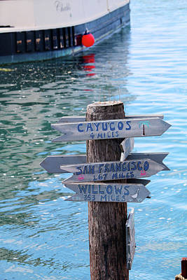 Directional Signage Photograph - Choices by Art Block Collections
