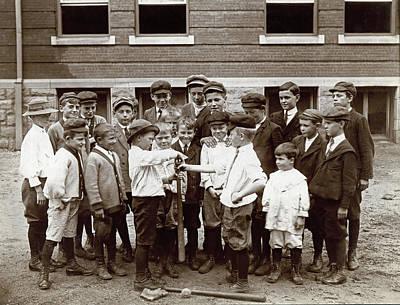 Baseball Uniform Photograph - Choosing Baseball Teams by Harvey Porch