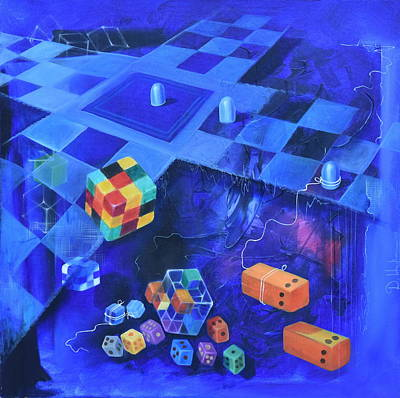 Rubiks Cube Painting - Chopard by Durshit Bhaskar