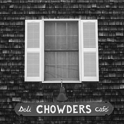 Window Signs Photograph - Chowders Cafe by Joseph Smith