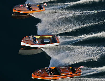 Chris Craft Runabouts Print by Steven Lapkin