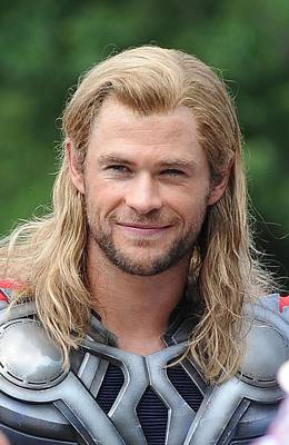 Paparazziec Photograph - Chris Hemsworth On Location For The by Everett