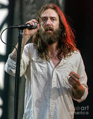 Black Crowes Photograph - Chris Robinson With The Black Crowes by David Oppenheimer
