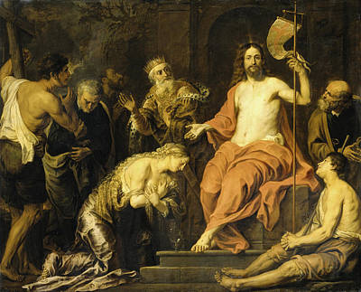 Gerard Seghers Painting - Christ And The Penitent Sinners by Gerard Seghers