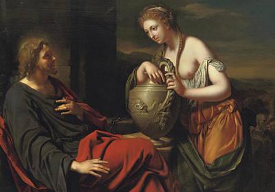 Christ And The Samaritan Woman Print by Adriaan van der Werff