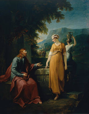 Christian Artwork Painting - Christ And The Woman Of Samaria by Mountain Dreams