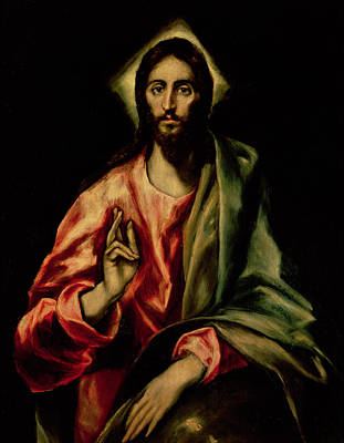 Redeemer Painting - Christ Blessing by El Greco