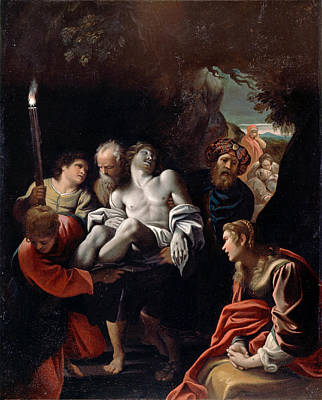Painting - Christ Carried To The Tomb 2 by Sisto Badalocchio