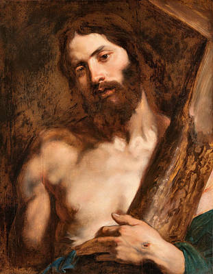 17th Century Painting - Christ Carrying The Cross by Anthony van Dyck