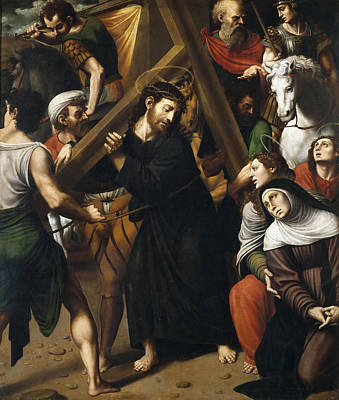 Masip Painting - Christ Carrying The Cross by Vicente Juan Masip