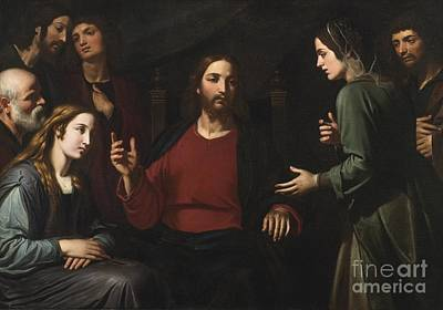 Martha Mary Painting - Christ In The House Of Mary And Martha by Celestial Images