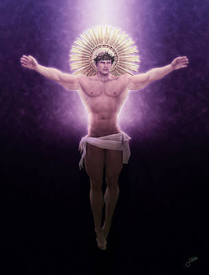 Muscular Digital Art - Christ Of The Sacred Light by Joaquin Abella