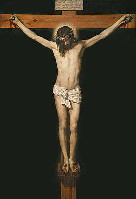 Testament Painting - Christ On The Cross by Diego Velasquez