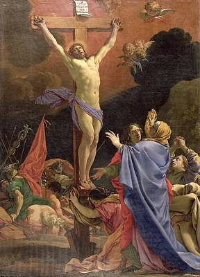 Christ On The Cross Print by Michel Dorigny