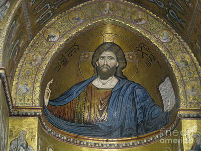 Christ Pantocrator Print by Erik Falkensteen