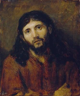 Oil Portrait Photograph - Christ by Rembrandt Harmensz van Rijn
