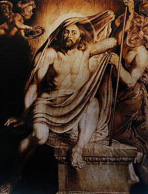 Custom Reproductions Pyrography - Christ Risen by Dino Muradian
