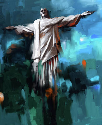 Holy Art Painting - Christ The Redeemer 429.3 by Mawra Tahreem