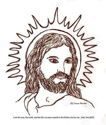 Christ The Savior Print by Norma Boeckler