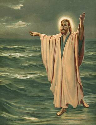 Morris Painting - Christ Walking On The Sea by Philip Richard Morris