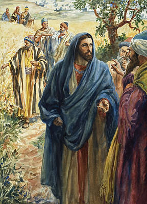 Christ With His Disciples Print by Henry Coller