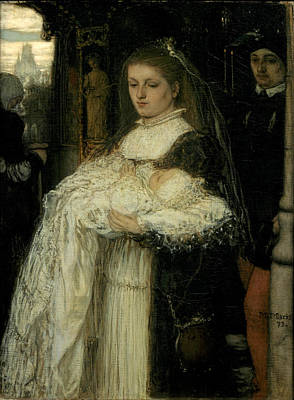 Matthijs Maris Painting - Christening Procession In Lausanne by Matthijs Maris