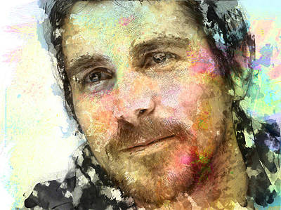 Christian Bale Digital Art - Christian Bale by Elena Kosvincheva