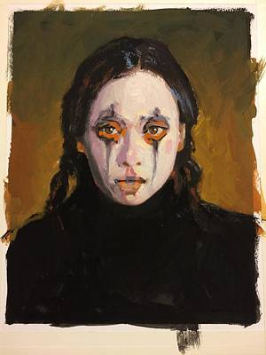 Gouache Painting - Christina by H James Hoff