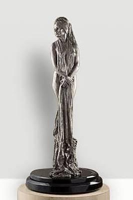 Richard Macdonald Sculpture - Christina I, Platinum by Richard MacDonald