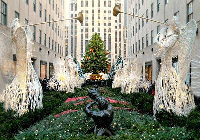 Peace On Earth Photograph - Christmas At Rockfeller Center 2015 by Diana Angstadt