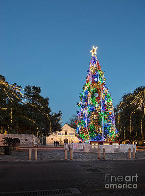 City Photograph - Christmas At The Alamo by Tod and Cynthia Grubbs