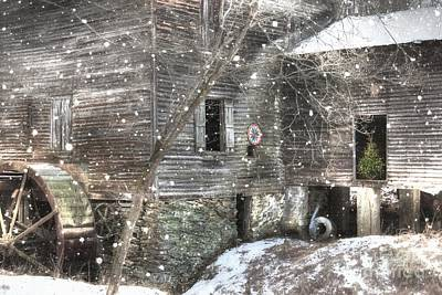 Grist Mill Photograph - Christmas At Cook's Mill by Benanne Stiens