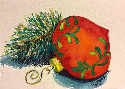 Painting - Christmas Baubles by Donna Pierce-Clark
