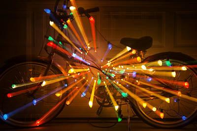 Handlebar Photograph - Christmas Bike Abstract by Garry Gay