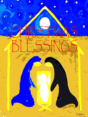 Child Jesus Mixed Media - Christmas Blessings 4 by Patrick J Murphy