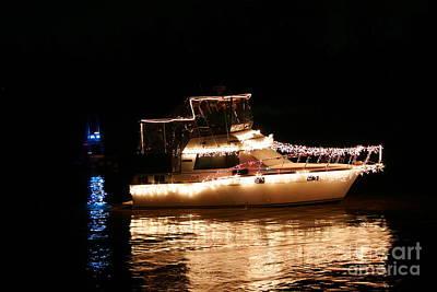 Christmas Boat Print by Morgan Hill