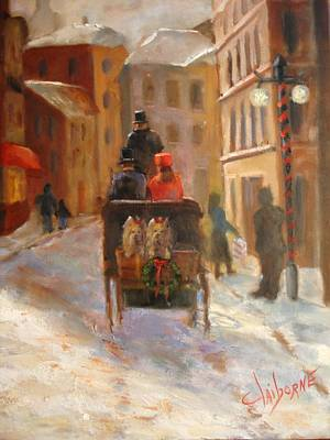 Christmas Buggy Ride  Print by Claiborne Hemphill-Trinklein