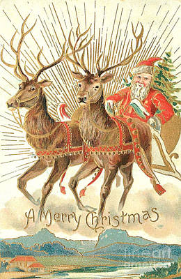 Christmas Card Original by Frederick Holiday