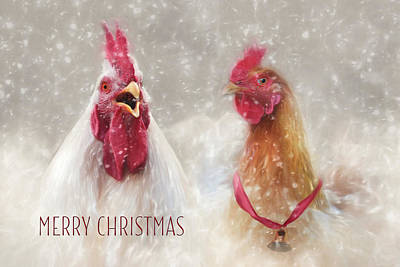 Photograph - Christmas Chickens by Lori Deiter
