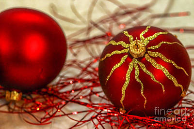 Christmas Decoration Print by Patricia Hofmeester