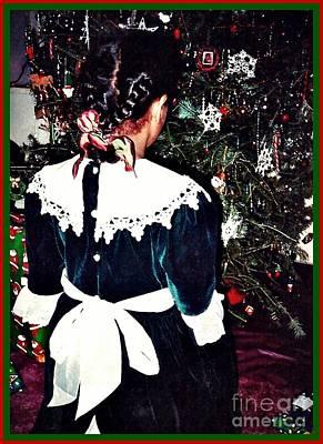 Christmas Dress Card 1 Print by Sarah Loft