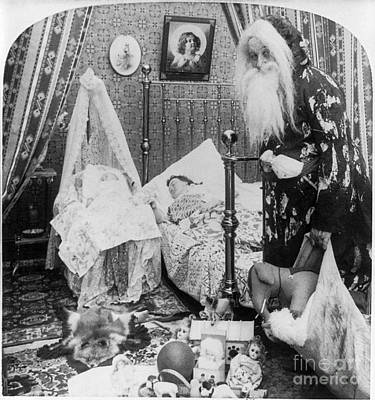 Santa Claus Painting - Christmas Eve, C1897 by Granger