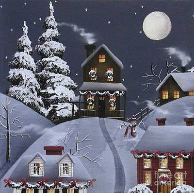 Wreath Painting - Christmas Eve by Catherine Holman