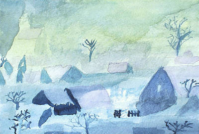 Winterscape Painting - Christmas Eve On The Flats After Samuel Burton by Paul Thompson
