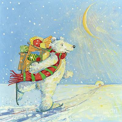 Igloo Painting - Christmas Homecoming by David Cooke