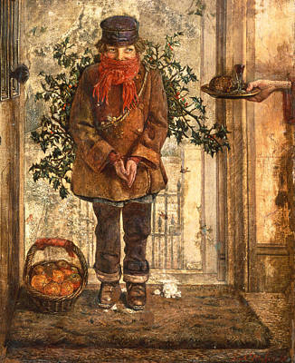 Fruit Stand Painting - Christmas by John Anster Fitzgerald