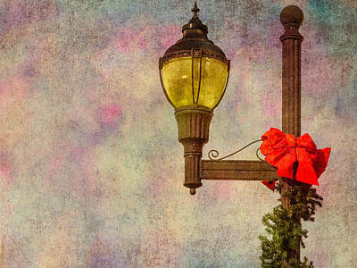 Decorated For Christmas Photograph - Christmas Lamp Post by Phillip Burrow